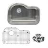 NS3220-OS - 31 Inch Single Bowl Undermount Stainless Steel Kitchen Sink, 16 Gauge