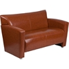 HERCULES Majesty Series Cognac Leather Loveseat