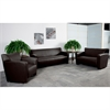 Flash Furniture HERCULES Majesty Series Reception Set in Brown