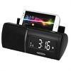 Jensen Bluetooth Clock Radio with Charging for all Smartphones