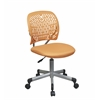 Office Star Designer Task Chair in Orange Fabric and Plastic Back