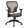 Office Star Latte Air Grid® Seat and Back Chair with 2-to-1 Synchro Tilt Control