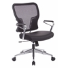 Air Grid Back and Padded Bonded Leather Seat Chair
