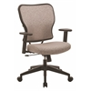 Deluxe 2 to 1 Mechanical Height Adjustable Arms Chair in Latte Fabric