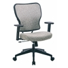 Deluxe 2 to 1 Mechanical Height Adjustable Arms Chair in Teal Fabric