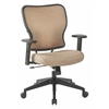 Deluxe 2 to 1 Mechanical Height Adjustable Arms Chair in Sand Fabric