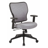 Deluxe 2 to 1 Mechanical Height Adjustable Arms Chair in Steel Fabric