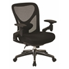 Office Star ProGrid Mesh Back Managers Chair with Mesh Seat, Pivoting Arms, Ratchet Height Adjustable Back and Nylon Base with Chrome Accents