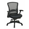 Office Star Executive Bonded Leather Back Chair with Flip Arms