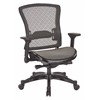 Office Star Executive Breathable Mesh Back Chair with Flip Arms