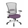 Office Star White Frame Managers Chair (Purple)