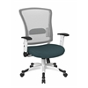 Office Star White Frame Managers Chair (Blue)