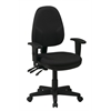 Office Star Dual Function Ergonomic Chair with Adjustable Back Height and Adjustable Arms with Custom Fabric Choice