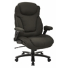 Office Star Big and Tall Deluxe High Back Charcoal Fabric Executive Chair with Padded Flip Arms
