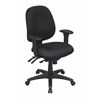 Mid Back Multi Function Ergonomics Chair with Ratchet Back, Seat Slider and 2-way Adjustable Arms