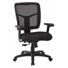 Black Mesh Back with Dove Black Fabric Seat Chair, 2-to-1 Synchro Tilt