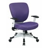 Office Star Managers Chair with Padded Mesh Seat and Back, Height Adjustable Flip Arms and Coated Nylon Base (Purple)
