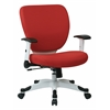 Office Star Managers Chair with Padded Mesh Seat and Back, Height Adjustable Flip Arms and Coated Nylon Base (Dove Rouge)