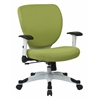 Office Star Managers Chair with Padded Mesh Seat and Back, Height Adjustable Flip Arms and Coated Nylon Base (Dove Olive Fabric)