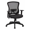 Office Star CHX Dark Breathable Mesh Back and Padded Bonded Leather Seat Managers Chair