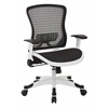 Office Star White Frame CHX Dark Breathable Mesh Seat and Back Manager Chair