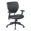 Office Star Black Vinyl over AirGrid® Back and Black Vinyl Seat