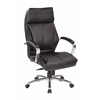Office Star Deluxe High Back Executive Black  Bonded Leather Chair