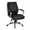 Office Star Deluxe Mid Back Executive Black Bonded Leather Chair