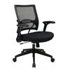 Office Star 2-to-1 Synchro Tilt Professional AirGrid® Back and Mesh Seat Managers Chair with Flip Arms and Angled Gunmetal Coated Base