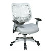 Office Star Unique Self Adjusting Ice SpaceFlex® Back and Shadow Mesh Seat Managers Chair