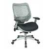 Office Star Unique Self Adjusting SpaceFlex® Fog Back and Raven Mesh Seat Managers Chair