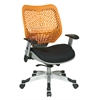 Office Star Unique Self Adjusting Tang SpaceFlex® Back and Raven Mesh Seat Managers Chair