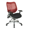 Office Star Unique Self Adjusting Cosmo SpaceFlex® Back and Raven Mesh Seat Managers Chair