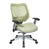 Office Star Unique Self Adjusting Kiwi SpaceFlex® Back and Raven Mesh Seat Managers Chair