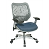 Office Star Unique Self Adjusting Fog SpaceFlex® Back and Raven Mesh Seat Managers Chair