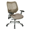 Office Star Unique Self Adjusting Latte SpaceFlex® Back and Raven Mesh Seat Managers Chair