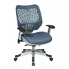 Unique Self Adjusting Blue Mist SpaceFlex Back Managers Chair