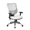 Office Star Unique Self Adjusting Ice SpaceFlex®  Back and White Vinyl  Seat Executive Chair