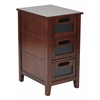 Office Star Avery Chalkboard Side Table in Saddle Finish