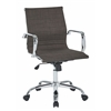 Office Star Archer Executive Chair in Milford Asphalt Fabric