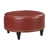 Office Star Augusta storage Ottoman Crimson Red Bonded Leather