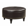 Office Star Augusta storage Ottoman Espresso Bonded Leather
