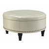 Office Star Augusta storage Ottoman Cream, Bonded Leather