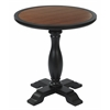 Aveline accent Table Antique Black Finish Brown Top