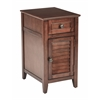 Office Star Brooke Chair Side Table in Chestnut Finish, Fully Assembled