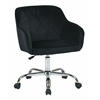 Office Star Bristol Task Chair with Black Velvet Fabric
