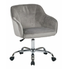 Office Star Bristol Task Chair with Charcoal Velvet Fabric