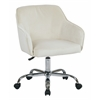 Office Star Bristol Task Chair with Oyster Velvet Fabric