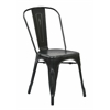 Bristow Armless Chair, Antique Black Finish, 4 Pack