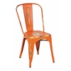 Office Star Bristow Armless Chair, Antique Orange Finish, 4 Pack